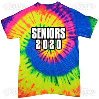 Seniors 2018 good vibes custom printed tees and tie for Custom tie dye shirts no minimum