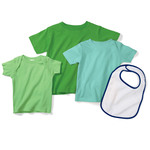 Infant Baby Rib Lap-Shoulder T-Shirt 3400