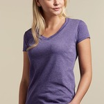244 Tultex Ladies' Poly-Rich Blend V-Neck Tee