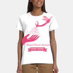 Breast Cancer Awareness Bird and Hand Design