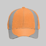 OTTO Reflective Piping Design Neon Polyester Twill Six Panel Low Profile Baseball Cap