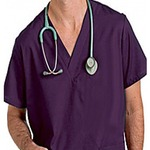 Unisex V-Neck 2 Pocket Scrub Top