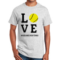 Love Tennis ball T-shirt Design Thumbnail