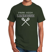 Lacrosse with sticks T-shirt Design Thumbnail