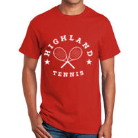 Tennis with rackets and stars t-shirt design Thumbnail