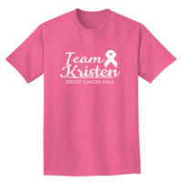 Breast Cancer Walk Team T-shirt Design Thumbnail