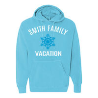 Winter Family Vacation with Snowflake T-shirt Design Thumbnail