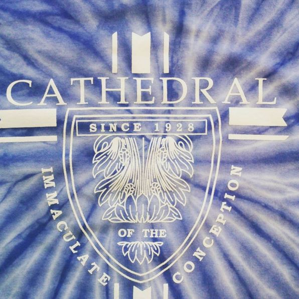 cathedral screenprinted tie dyes