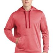 ® PosiCharge ® Sport Wick ® Heather Fleece Hooded Pullover Thumbnail