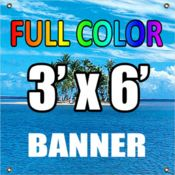 3'x6' Full Color Vinyl Banner (13oz.) Thumbnail