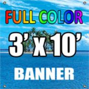 3'x10' Full Color Vinyl Banner (13oz.) Thumbnail