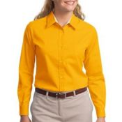 L608 Ladies Long Sleeve Easy Care Shirt Thumbnail