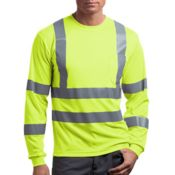 Ansi Class 3 Long Sleeve Snag Resistant Reflective T Shirt Thumbnail