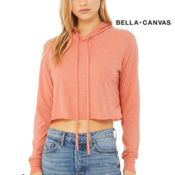 Women's Cropped Triblend Hoodie Thumbnail
