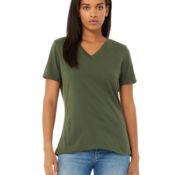 Bella + Canvas Ladies' Relaxed Jersey Short-Sleeve V-Neck T-Shirt Thumbnail