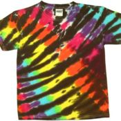 Diagonal Web Tie Dye T-Shirt - 12 piece minimum Thumbnail