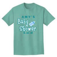 Baby shower with bottle t-shirt design Thumbnail