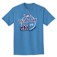 Birthday with cake t-shirt design Thumbnail
