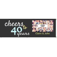 Cheers to 40 years Anniversary Banner Thumbnail