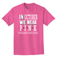 In October We Wear Pink Breast Cancer T-shirt Design Thumbnail
