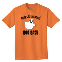 Annual Boo Bash with Ghost T shirt Design Thumbnail