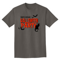 Halloween Party with Bats and Cats T-shirt Design Thumbnail